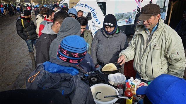Le camp de r�fugi�s de Grande-Synthe, dans le nord de la France
