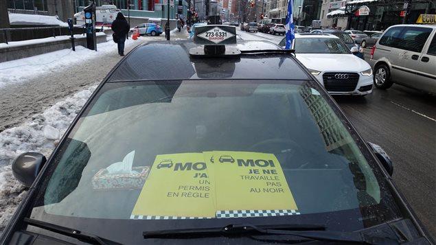 Les taxis manifestent contre Uber