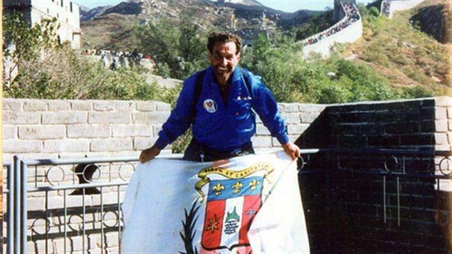 Albert Leblanc en 1988, en direction des Jeux olympiques de Séoul.