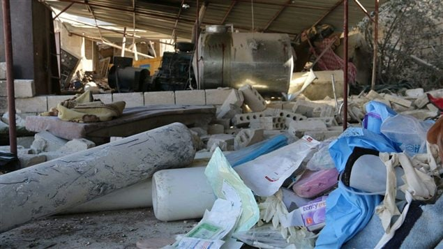 Hospitals have been bombed in Syria, depriving children of medical care.