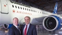 Alain Bellemare, président et chef de la direction de Bombardier, et Calin Rovinescu, président et chef de la direction d'Air Canada