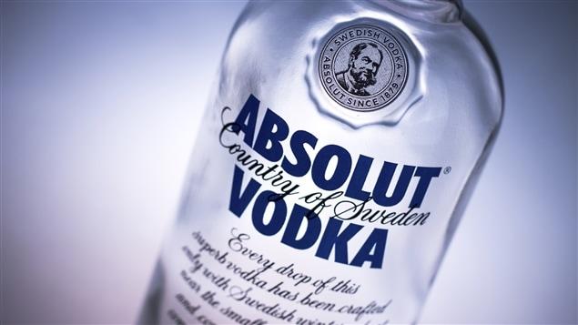 Une bouteille de vodka Absolut