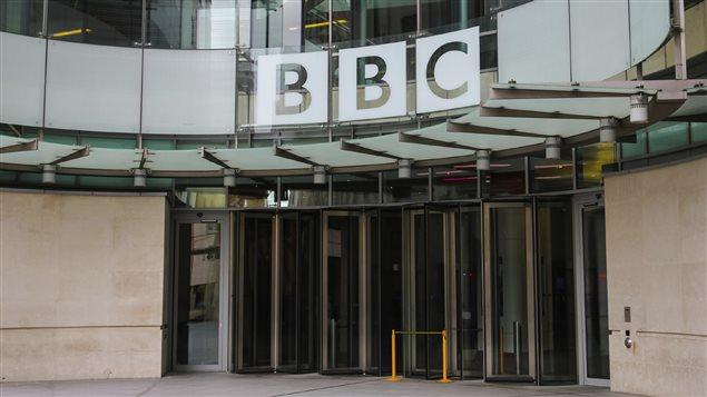 La devanture d'un immeuble de la BBC à Londres