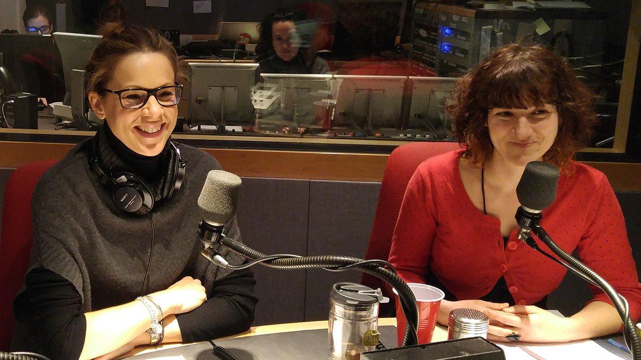 La psychologue Stéphanie Léonard et Marine Pouyfaucon de Croquarium