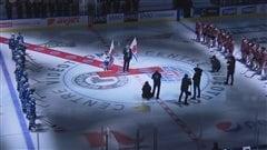 Pr�sentation du match des Petits Nordiques au Tournoi pee-wee de Qu�bec.