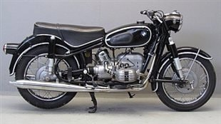 A 1966 BMW R50, similar to the one owned by Clarke's father, and by Carl Black, the protagonist is Clarke's newest novel, The Motorcyclist*
