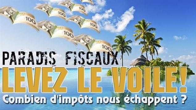 L'affiche de la campagne Paradis fiscaux : levez le voile!