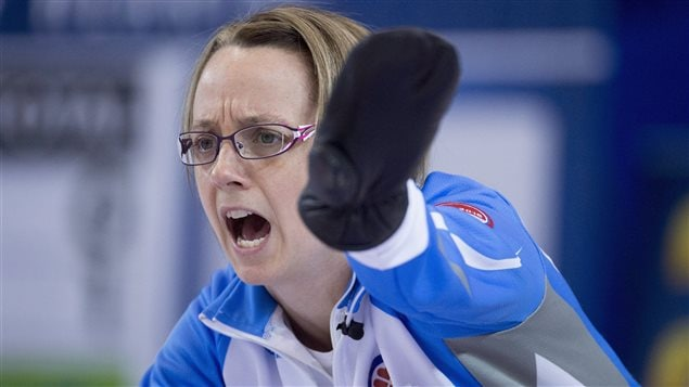 La capitaine de l'équipe du Québec, Marie-France Larouche