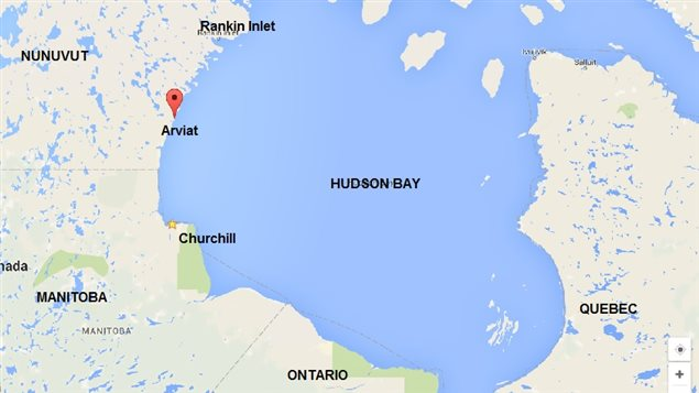 Arviat lies north of the 60th parallel in Nunavut Territory on the shore of Hudson Bay