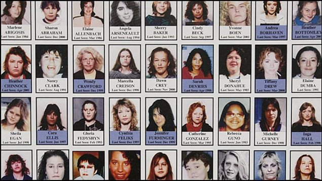 Images of the many women who disappeared from Vancouver and area and who are believed to be among the victims of Robert Pickton, Canada's worst serial killer.