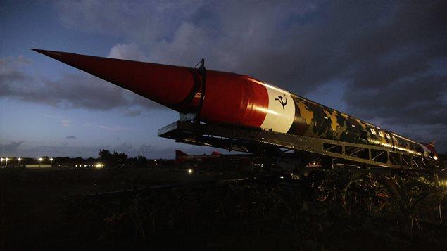 Un des missiles � moyenne port�e d�ploy�s par l'URSS � Cuba, en 1962