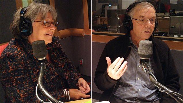 Lucie Granger de l'ASPQ et le Dr Richard Lessard