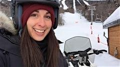 Ce matin Martin inspecte les remontées mécaniques du Mont Sainte-Anne. Ah oui... Martine a aussi fait du ski-doo sur ses heures de travail!!?#?LaBelleVie?