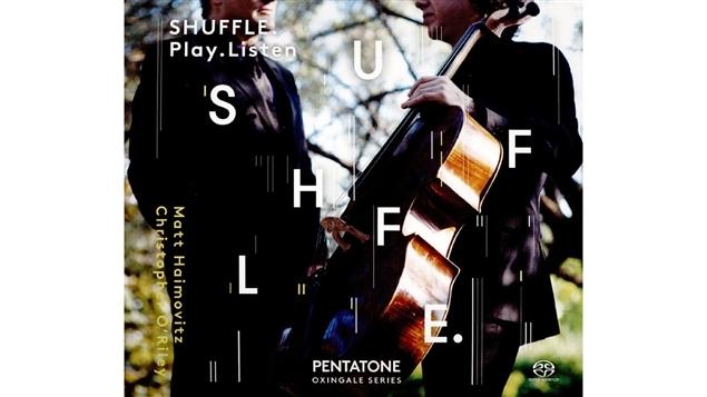 Pochette de l'album <i>Shuffle.Play.Listen</i> de Matt Haimovitz et Christopher O'Riley, paru sous étiquette Pentatone