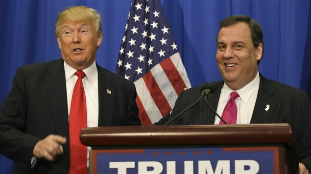 Chris Christie a annoncé son soutien à Donald Trump à Fort Worth, au Texas.