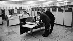 Ordinateurs de la Banque Midland, Grande-Bretagne, en 1969