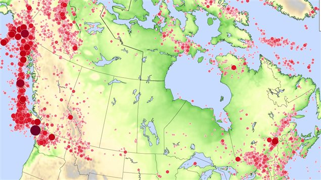 Tremblements de terre au Canada de 1627 � 2010 � Radio-Canada