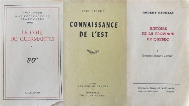 Couvertures de livres édités à Montréal durant la Seconde Guerre mondiale
