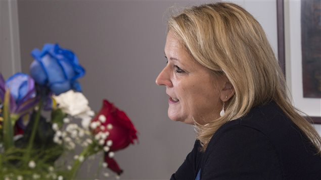 Lise Thériault, ministra de la Condición Femenina de Quebec.