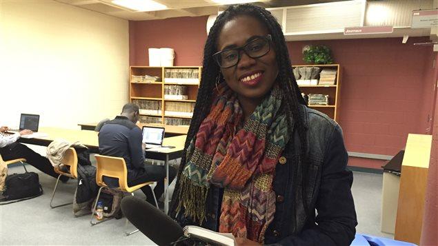 Olivia Adié, participante de Jeun'Info Manitoba