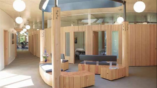 Commercial wood design :Cordova Bay Physiotherapy Clinic, Saanich, BC