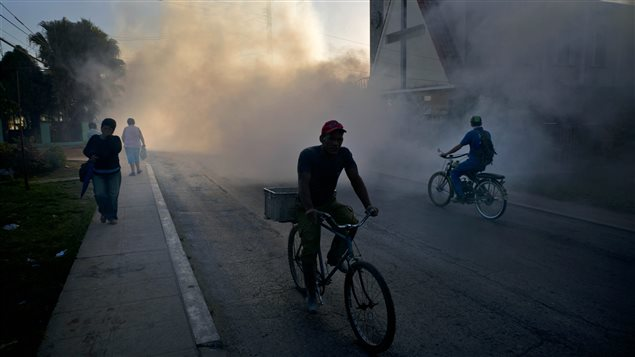 Cuban authorities fumigate to kill mosquitoes that spread Zika. Many Canadians travel to Cuba during the winter months.