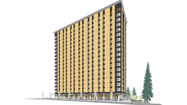 At 18 stories, the UBC student residence will be the tallest mass-wood building in the world when complete in 2017