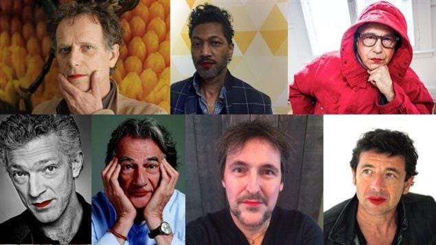 Des personnalités qui ont pris part à la campagne «Mettez du rouge».