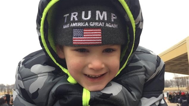 Un petit partisan de Donald Trump à Tulsa, en Oklahoma, le 20 janvier 2016.