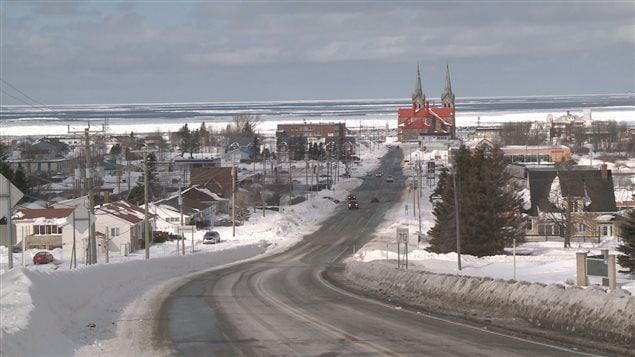 Sainte-Anne-des-Monts en hiver
