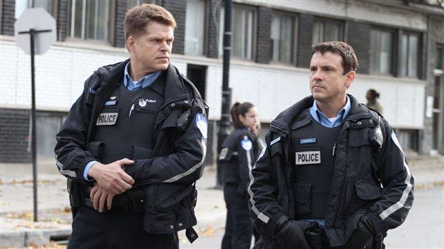 Réal Bossé et Claude Legault dans la série <em>19-2</em>