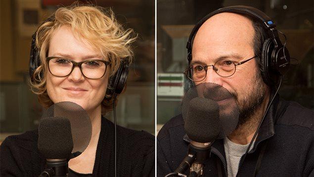 Les auteurs-compositeurs-interprètes Mara Tremblay et Michel Rivard