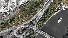 Vue du projet de funiculaire reliant l'hôtel McDonald à la vallée de la rivière à Edmonton