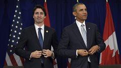 Le premier ministre Justin Trudeau et le président Barack Obama.