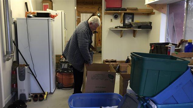Jean Cayla prépare son déménagement