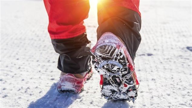 La marche en hiver.