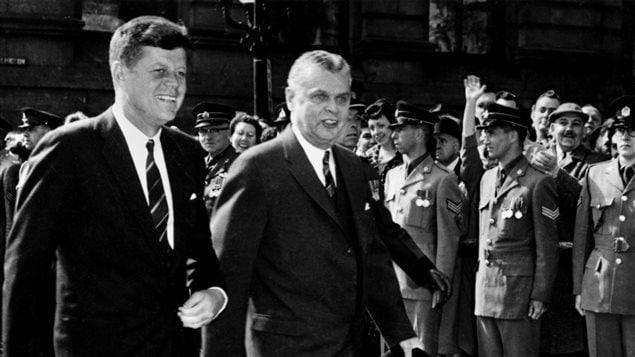 John F. Kennedy et John Diefenbaker, Ottawa, 1961.