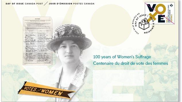pli pour collectionneurs, timbre vote femmes