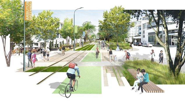 Le réaménagement du corridor Arbutus en espace vert