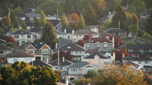Des maisons près du parc Queen Elizabeth à Vancouver