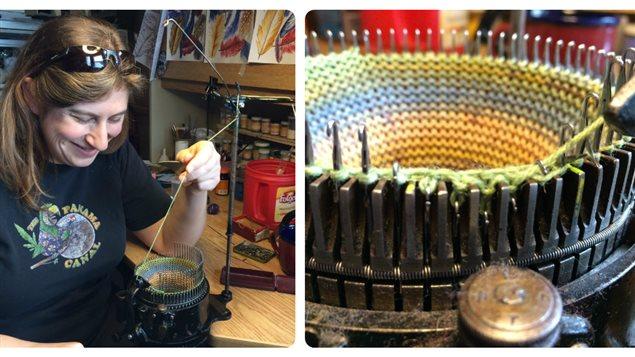 Valérie Moreau a restauré quatre tricoteuses antiques