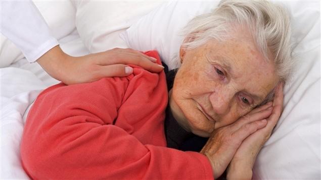 Une personne âgée souffrant de dépression