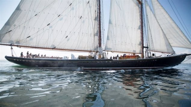 The Bluenose II sails in Lunenburg Harbour after a tour. Problems with the rudder resulted in many sailings having to be cancelled in the last coupld of years.