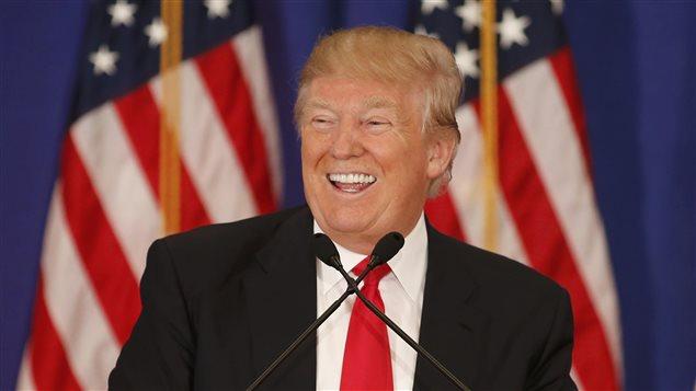Le candidat à l'investiture du Parti républicain en vue de l'élection présidentielle, Donald Trump