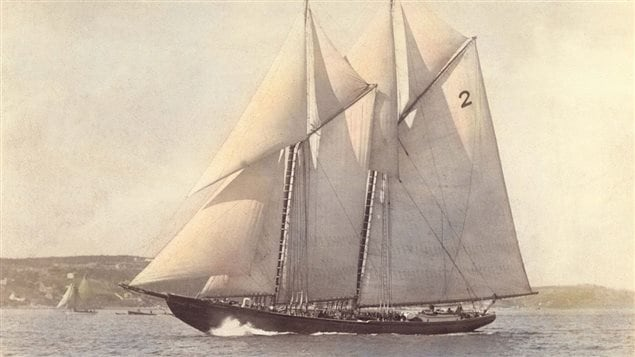 The beautiful lines of Bluenose, the most successful and faster schooner in the America's  in the 20th century.