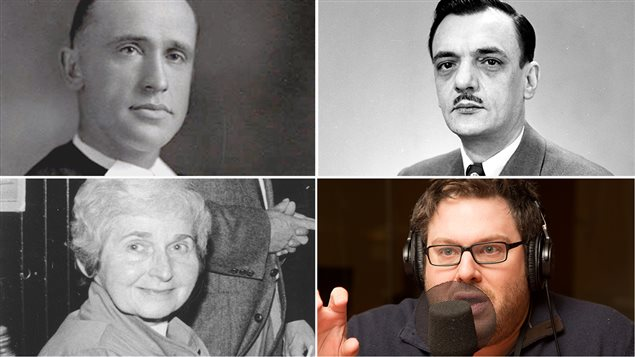 Le frère Marie-Victorin, André Laurendeau, Madeleine Parent et Mathieu Bock-Côté
