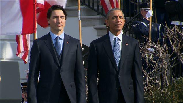 Justin Trudeau y Barack Obama.