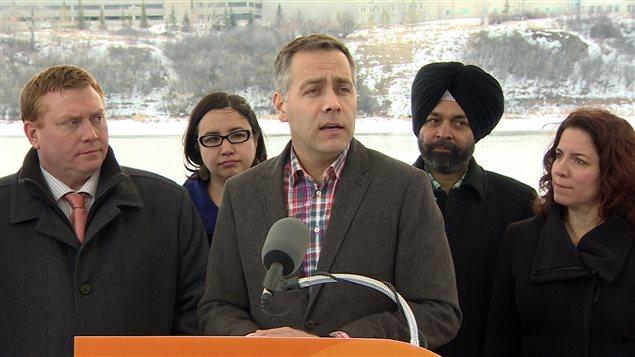 Le chef du Nouveau Parti démocratique de la Saskatchewan, Cam Broten.