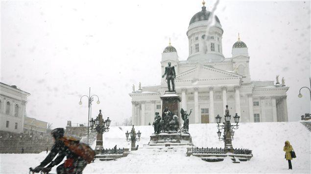 Place du Sénat à Helsinki en Finlande