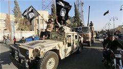 Des combattants du groupe armé État islamique en Syrie.
